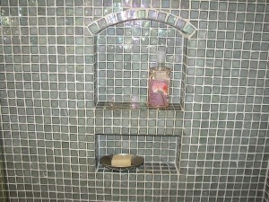 glass tile work